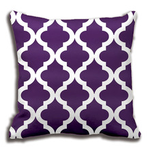 Light Purple Moroccan Quatrefoil Print Pillow Decorative Cushion Cover Pillow Case Customize Gift By Lvsure For Car Sofa Seat