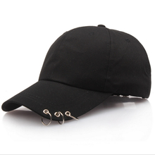 цены Spring Summer Men Women Cap Solid Plain Black Pink White Snapback Cap Baseball Hats with Rings Adjustable Baseball Caps