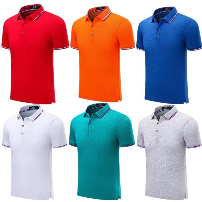 09ba199be 2019 summer men's Polo cotton clothing short sleeve Polo tennis Golf Run  Volleyball Sports Man woman
