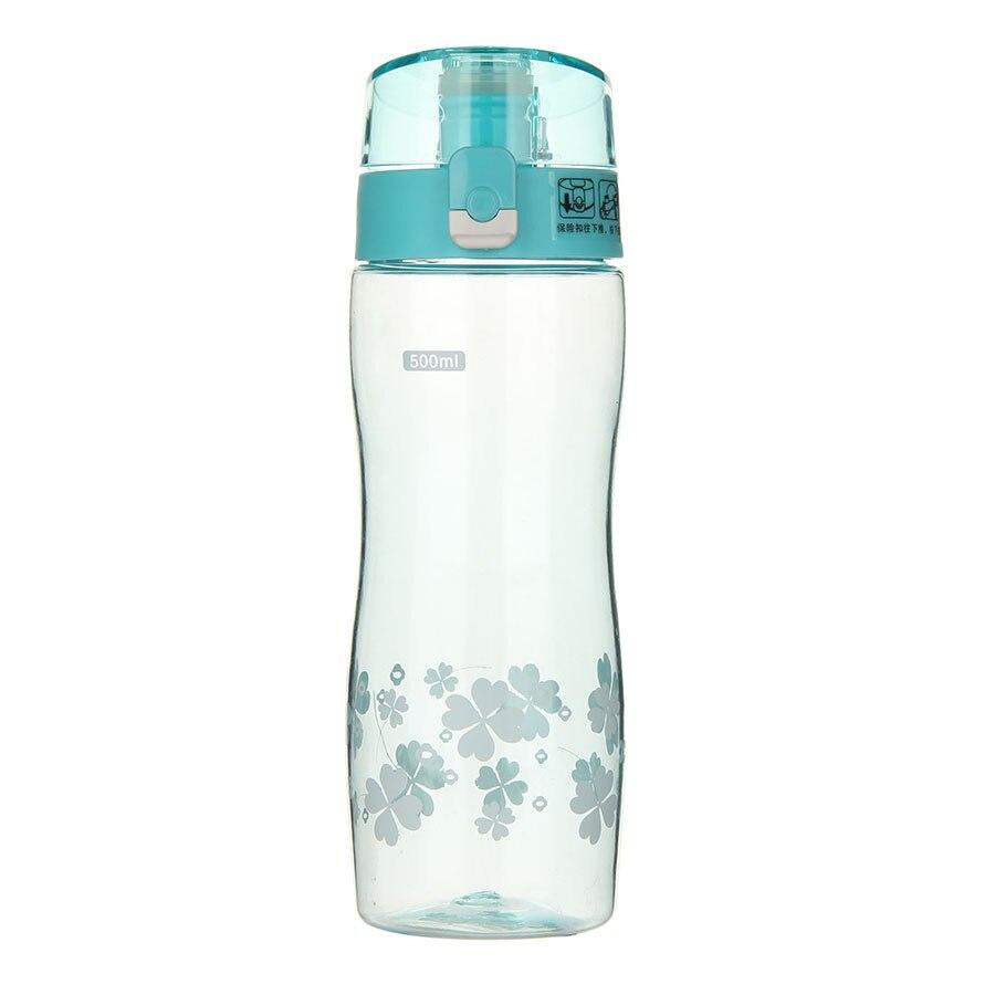 Nuevas Botellas de Agua Del Deporte de Plástico A Prueba de Fugas 500 ml Portáti