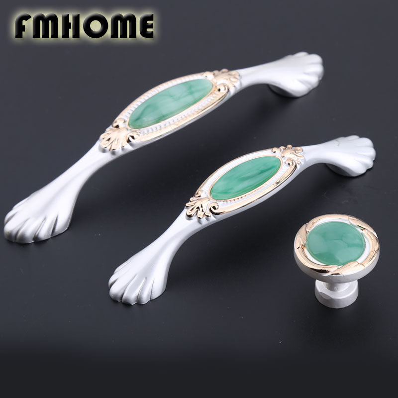 128mm europen style Gold and silver kitchen cabinet cupboard door handles green jade resin darwer tv cabinet knobs pulls 96mm akl awwad and nida salem green synthesis of magnetite and silver nanoparticles
