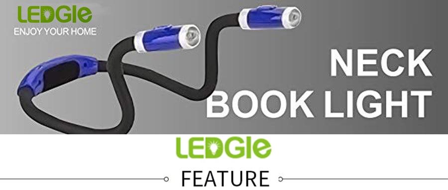 Ledgle Usb Handsfree Reading Lamp Neck Book Light