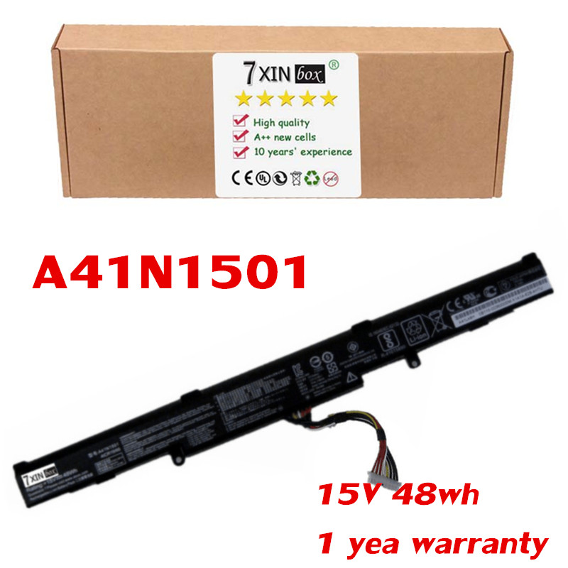 15V 48Wh A41N1501 Laptop Battery For ASUS GL752VW N752V GL752JW N752VW GL752VW-T4108D GL752VW-2B GL752VL-1A GL752VW-T4137T original laptop battery b31n1336 for asus vivobook c31 s551 s551 s551lb s551la s551ln 1a r553l r553ln r553lf k551ln v551l v551la