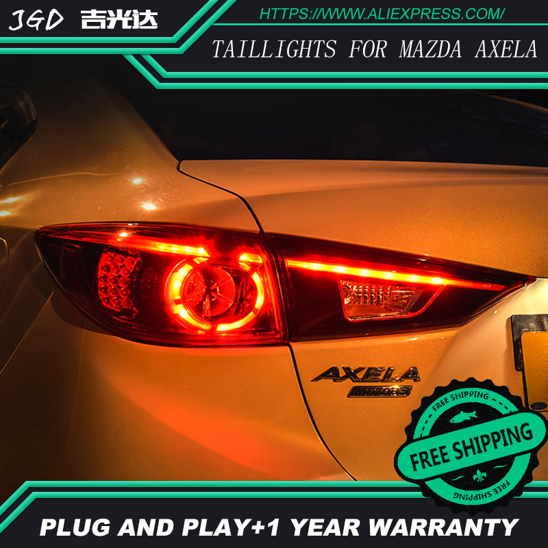 Car Styling tail lights for <font><b>Mazda</b></font> <font><b>3</b></font> Axela taillights <font><b>LED</b></font> Tail <font><b>Lamp</b></font> rear trunk <font><b>lamp</b></font> cover drl+signal+brake+reverse image