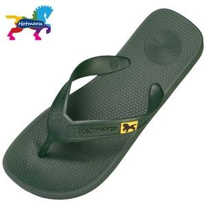 Image 4 - Hotmarzz 男性フリップは、ビーチフラットサンダルデザイナースリッパ夏の靴のファッションスライドゴム下駄 zapatos hombre