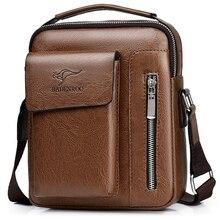 New Luxury Brand Vintage Messenger Bag Men Leather Shoulder Bags Business Casual Brown Top-handle Crossbody Bags For Men Handbag