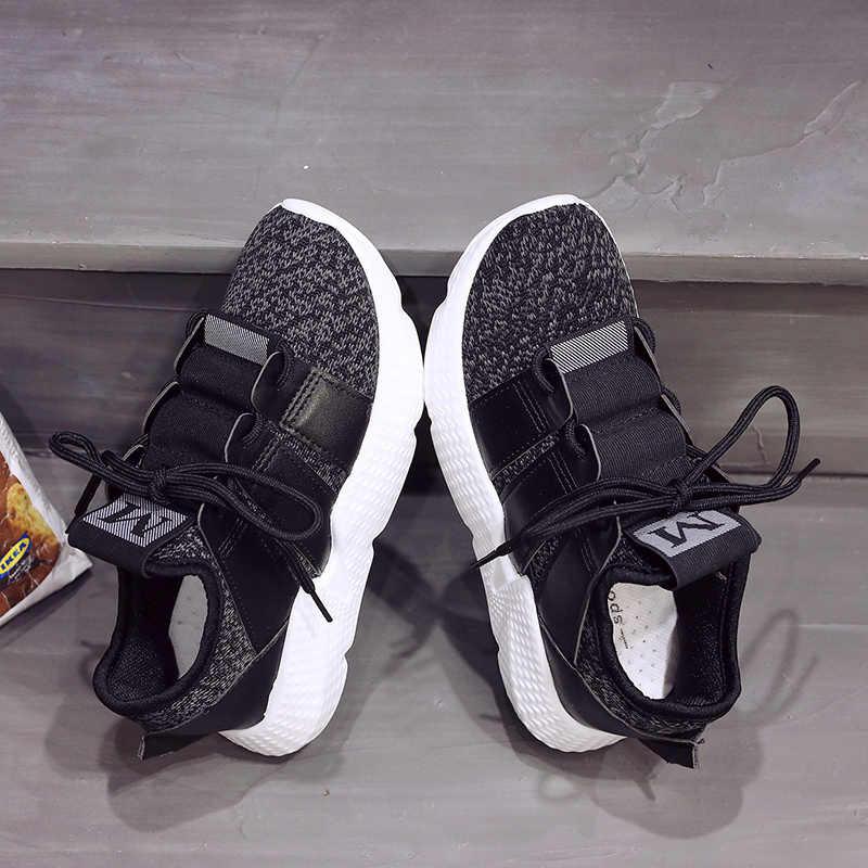 huge discount f3f76 cefba ... Weweya Trend Shark Sock Shoes Women Letter M Sock Sneakers Woman Flats  Platform Outdoor Damping High ...