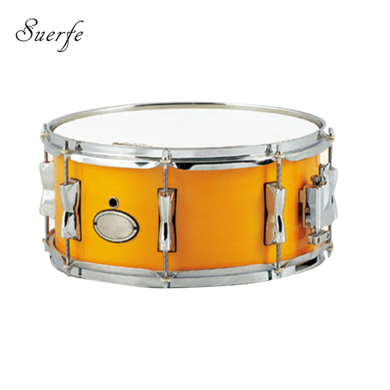 buy suerte professional birch snare drum 14 3 5 size orange painting color. Black Bedroom Furniture Sets. Home Design Ideas