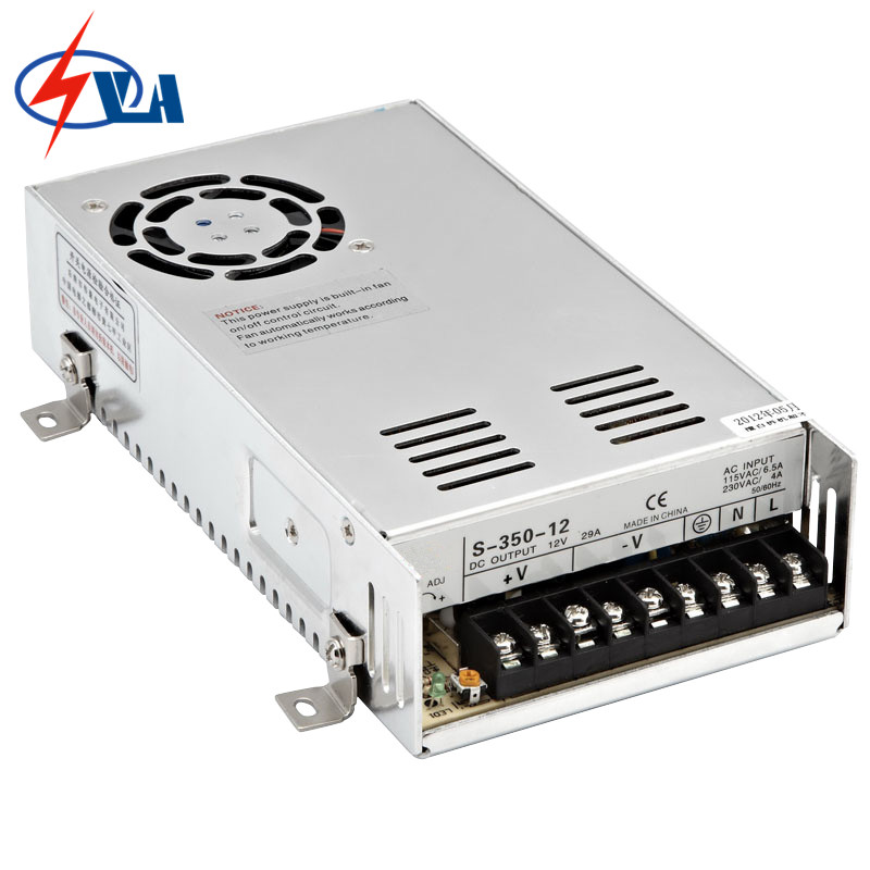 S-350-24 220VAC 24V 350W Aluminium power supply switching SMPS s 350 24 350w 24v non waterproof aluminium switching power supply cooling fan
