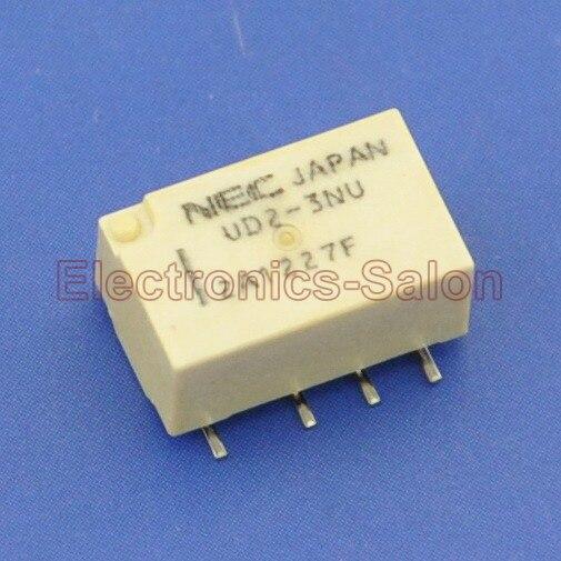 ( 100 Pcs/lot ) UD2-3NU SMD Signal Relay,DC 3V,Ultra-miniature Flat,DPDT/2 Form C