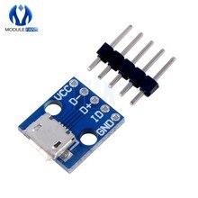 5 pièces Micro USB alimentation Module de dérivation Interface carte adaptateur d'alimentation USB 5V Module de dérivation CJMCU