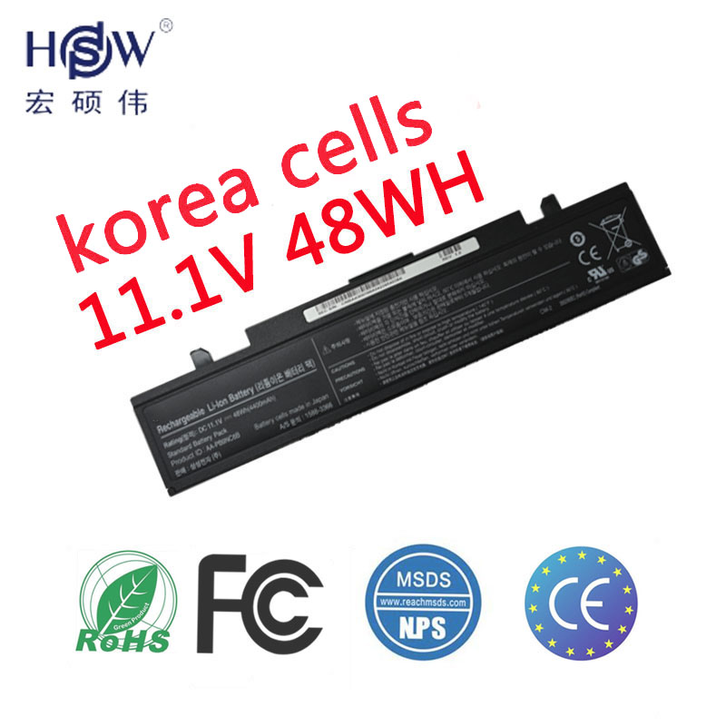 HSW Laptop Battery For Samsung AA PB9NC5B AA PB9NC6B AA PB9NC6W AA PB9NS6B AA PL9NC2B AA PL9NC6W laptop battery R728 R730 in Laptop Batteries from Computer Office