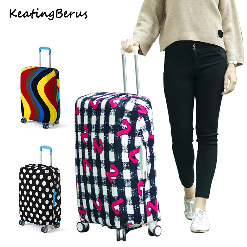 High Qualit Travel Elasticity Fashion Luggage Cover Travel Luggage Dust Cover Protective Suitcase Cover Trolley Case