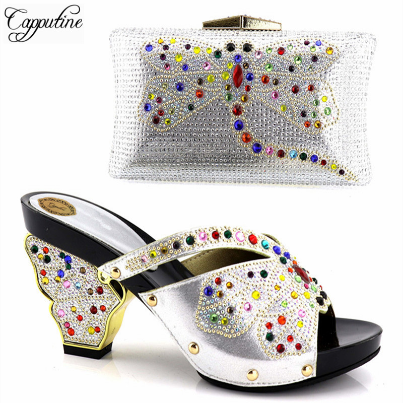 Capputine Italian Shoes And Bags To Match Shoes With Bag Set Handmade Decorated With Rhinestone Shoes And Bag Set For Party capputine latest italian woman shoes and bags to match shoes with bag set bag and shoes set italy nigerian shoes and purse set