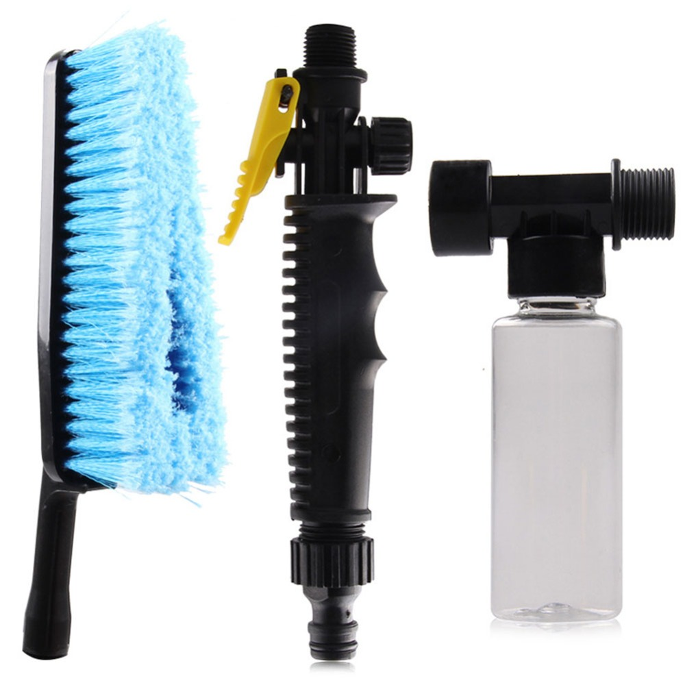 Car Wash Brush Cleaning Tool For Vehicles With Extension Handle For Hose Adapter
