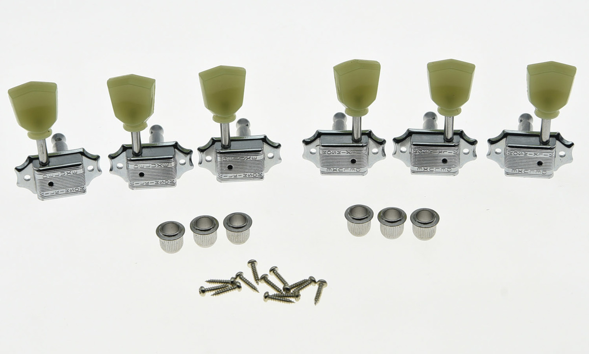 KAISH Wilkinson 3x3 Deluxe Vintage Tuners Tuning Keys Machine Head for LP Chrome kaish wilkinson 3x3 deluxe vintage tuners tuning keys machine head for lp chrome