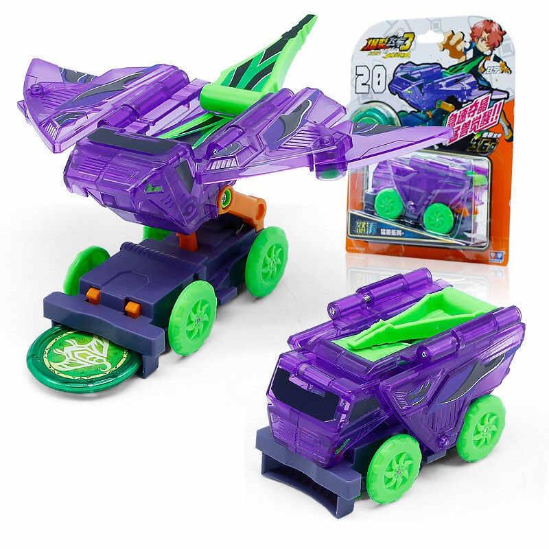 Новейшая скорость взрыва стяжки дикая деформация автомобиль фигурки несколько чип захват вафли 360 ° флип трансформация автомобили игрушки