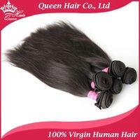 """королева для волос 1 шт. бразильский девственные волосы прямые волосы, человеческие волосы unprocesed наращивание волос, 12 """"- 28 """" бесплатная доставка"""