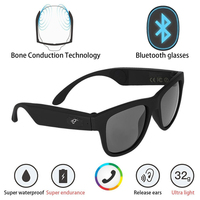 Bone Conduction Bluetooth Earphone Smart Sport Sunglasses Wireless Stereo Music Sunglasses Sports Headset Headphone