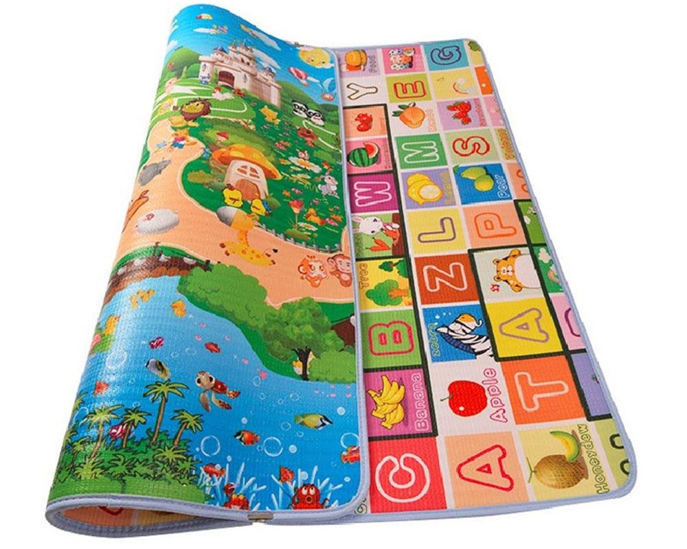 Bébé ramper Gym tapis Non-toxique enfants jeu Pad famille pique-nique tapis infantile jouant tapis 180 CM x 120 CM épaisseur 1.5 CM