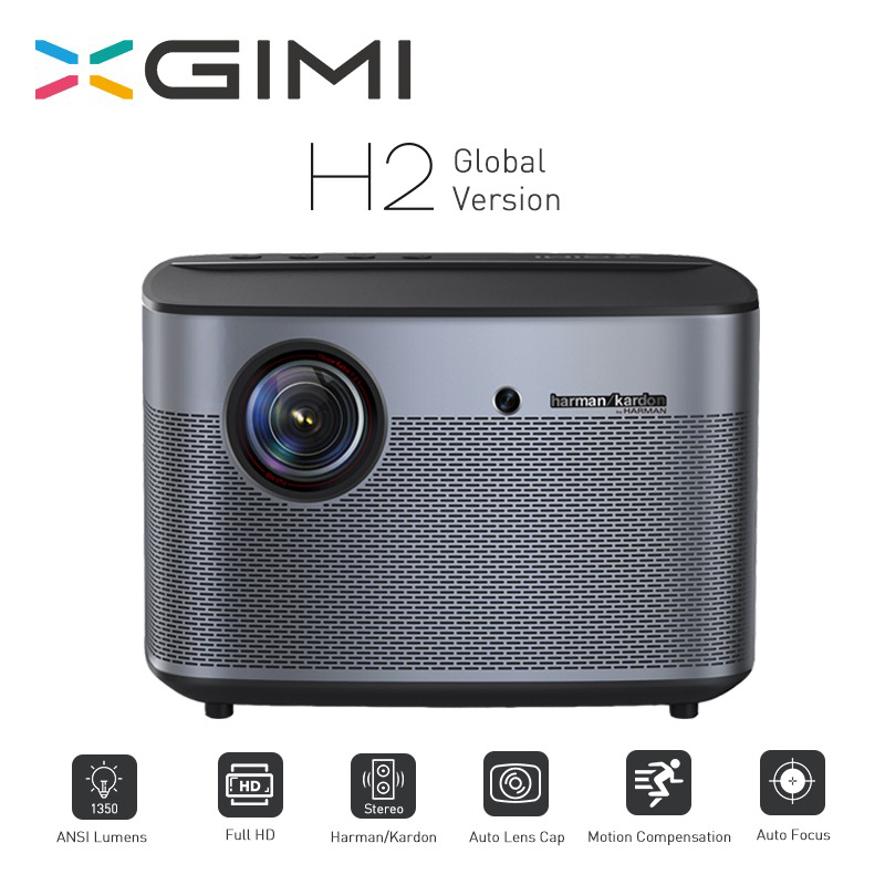 XGIMI H2 Projetor 1080 P 1350 Ansi Projetor Full HD 3D 4 K 2 GB/16 GB Android Bluetooth airplay Projetor de Cinema Em Casa