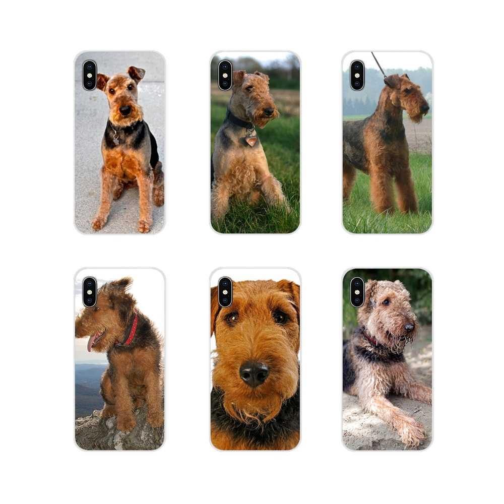Accessoires coque téléphone couvre pour Huawei Mate Honor 4C 5C 5X6X7 7A 7C 8 9 10 8C 8X20 Lite Pro Airedale Terrier chien art