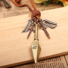 Bronze Naruto Antique Weapon Rope Necklace