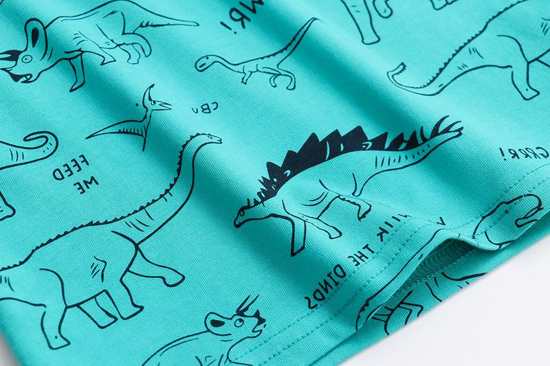 SAILEROAD Dinosaur Print Children Tops T Shirt for Kids Clothes Summer 2021 Boys T-Shirts Cotton 7Years Baby Girls Clothing 4