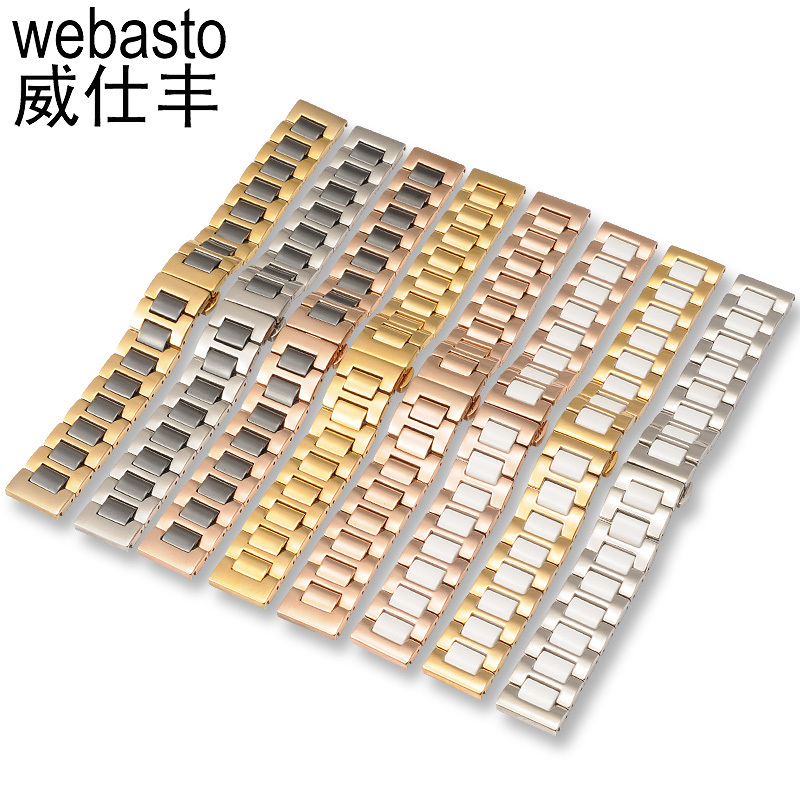 Webasto Watch Band For DIESEL Rolex Ceramic Straps Width 14 16 18 20 22mm Butterfly Buckle Watch Strap Watchbands Free Shipping