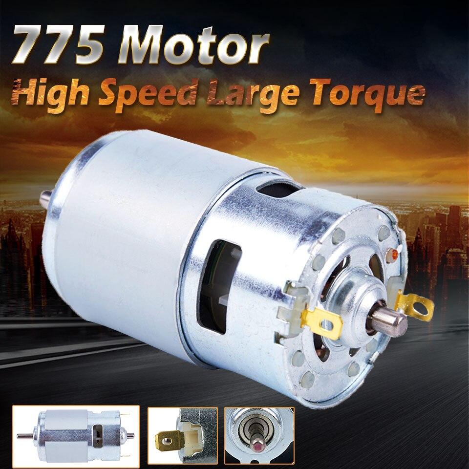 DC 12V 150W 13000 ~ 15000 775 rpm motor de Alta velocidade Grande torque do motor DC Elétrica ferramenta Elétrica máquinas