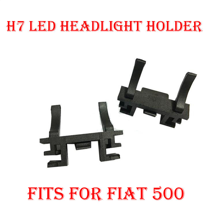 2PCS H7 LED Headlight Conversion Kit Bulb Holder Adapter Base Retainer Socket For Fiat 500 Ford Focus 2017 Low Beam Halogen HID