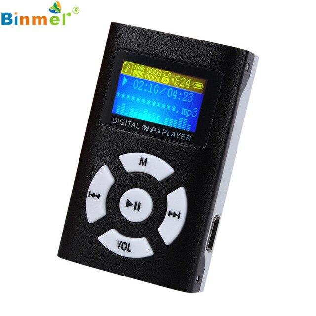 Цена завода Binmer Горячее Надувательство 2016 USB Мини USB Mp3-плеер ЖК-Экран Поддержка 32 ГБ Micro SD TF Слот Для Карты Цифрового Бесплатная доставка