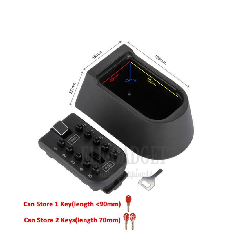 Image 2 - New Black Heavy Duty Key Hidden Storage Safe Box With 4 Digital Password Lock Weatherproof Case For Home Carvan Office RVbox boxbox safebox storage box -