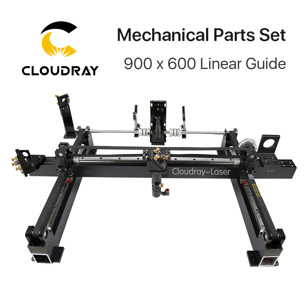 Mechanical Parts Set 600mm*900mm Single Head Laser Kits Spare Parts for DIY CO2 Laser 6090 CO2 Laser Engraving Cutting Machine co2 laser head set co2 laser metal parts co2 laser path use for laser cutting and engraving machine