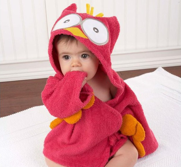 0 6Y Children Robes Animal Boys Girls Cotton sleepwear Baby Bathrobe Romper kids Home wear Baby Hooded Bath Towel Robes Cartoon in Robes from Mother Kids