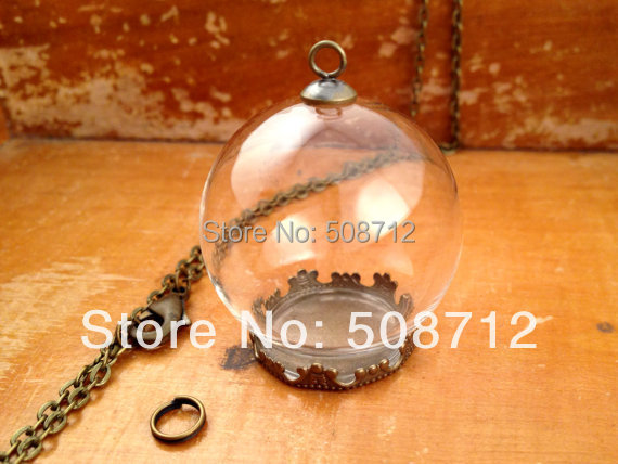 20sets clear glass globe necklace kit bottle pendant diy antique 20sets clear glass globe necklace kit bottle pendant diy antique bronze top terrarium bottle charm apothecary aloadofball