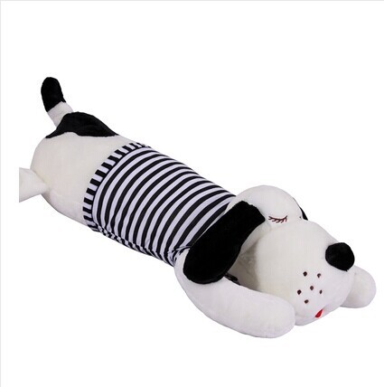 110 cm lying dog plush toy stripes cloth dog lovely doll sleeping pillow w3867110 cm lying dog plush toy stripes cloth dog lovely doll sleeping pillow w3867