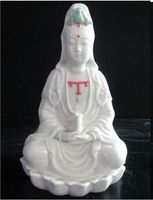 Exquisite Chinese Classical Dehua Porcelain Kwan yin Guanyin goddess Statue