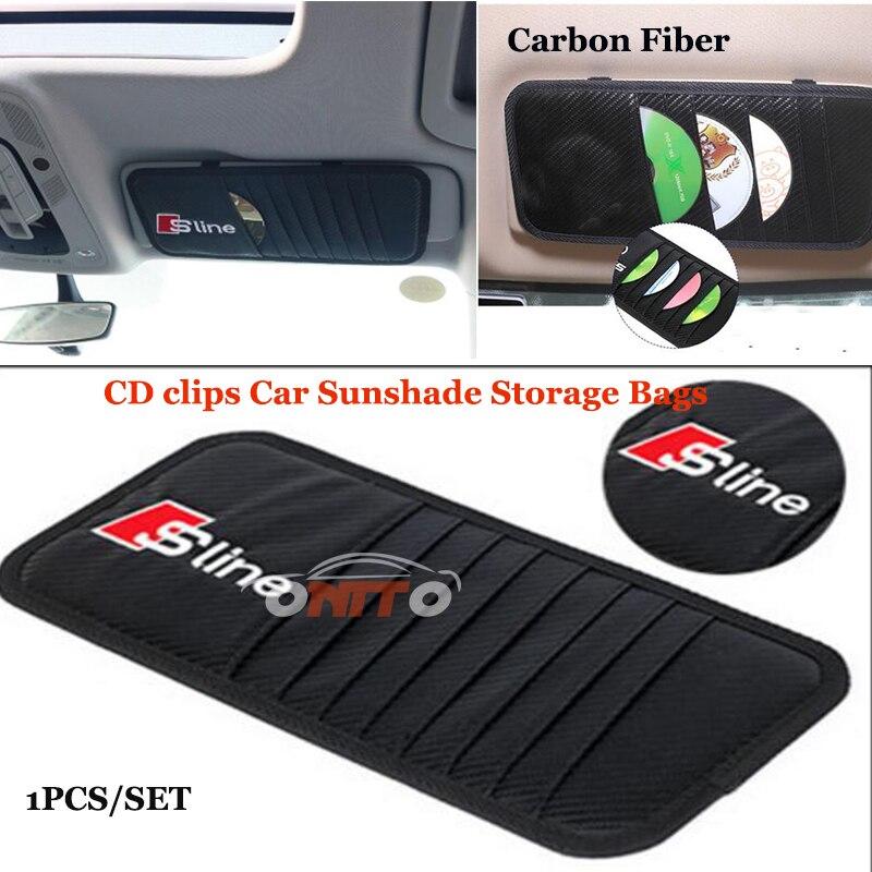 Auto safety Belts RS Sline logo badge 2pcs/set Car seat belts padding covers Carbon PU For Audi