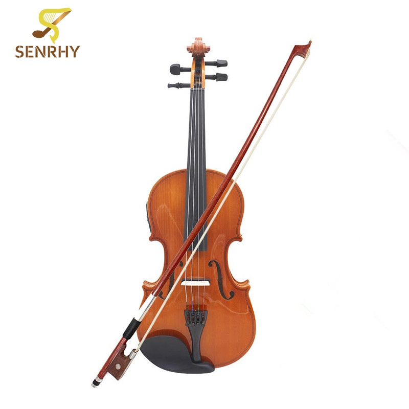 Professional 4/4 Solid Basswood 60x21x4.3cm Electroacoustic Violin Musical Instruments With Pickup Case Violin Accessories full size 4 4 solid basswood electric acoustic violin with violin case bow rosin strings accessories