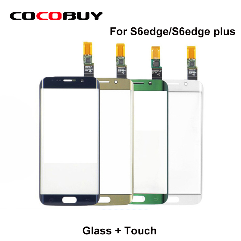 Touch Screen Digitizer Front Glass with Touch For S6 Edge/G9250 S6 Edge plus/G928F LCD  replacement tbk professional small freezing machine lcd touch screen separating 150c frozen separator for s6 edge s7 edge