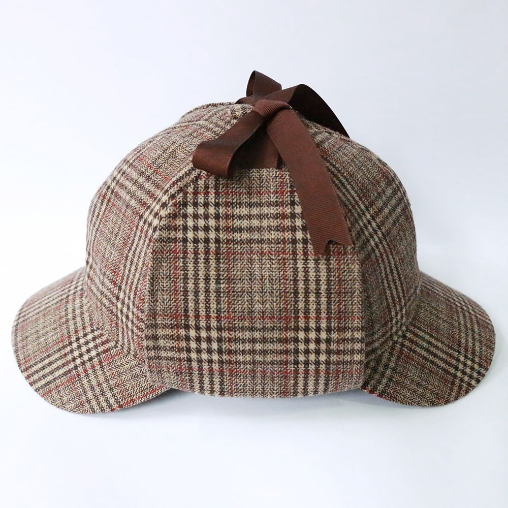 Sherlock Holmes Hat Novelty Gifts Deerstalker Cosplay Hat Detective Cap Unisex Movie Costumes Flat Caps Hip Hop Accessories5