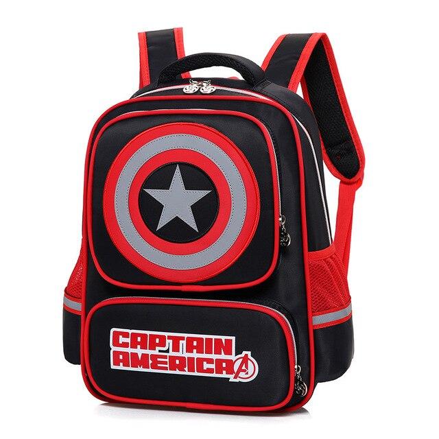 Captain America Shield Children School Bags Cartoon Cool Heroes