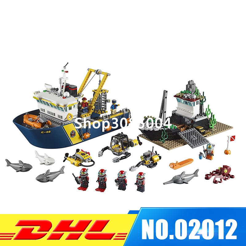 IN Stock LEPIN 02012 774 PCS City Deep Sea Explorers 60095 Exploration Vessel Toy Set Model Building Kits Blocks Girl Gift 774pcs city deep sea explorers 02012 model exploration vessel building blocks bricks children toys ship kit compatible with lego
