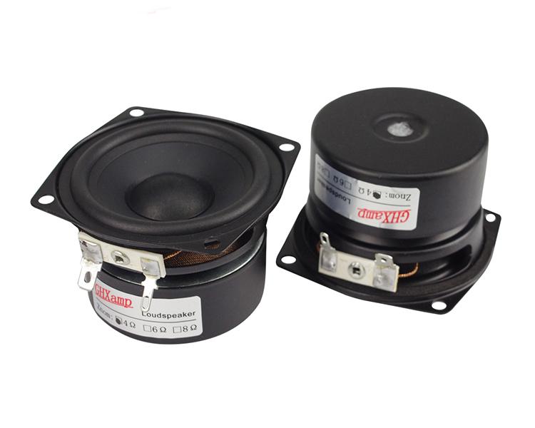 2.5 Inch Full Range Speaker 4Ohm 10W Damping Pape Cone DIY Portable Bluetooth Speaker Unit Computer Desktop Soundbox 2PCS