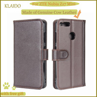 KLAIDO Genuine Leather Mobile Phone Case For ZTE Nubia Z17 Mini Phone Case Wallet Case For