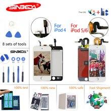 Sinbeda ЖК-экран Замена для Ipod touch 4 5 6 ЖК-дисплей + сенсорный экран дигитайзер сборка бесплатная Открытие Инструменты + клей
