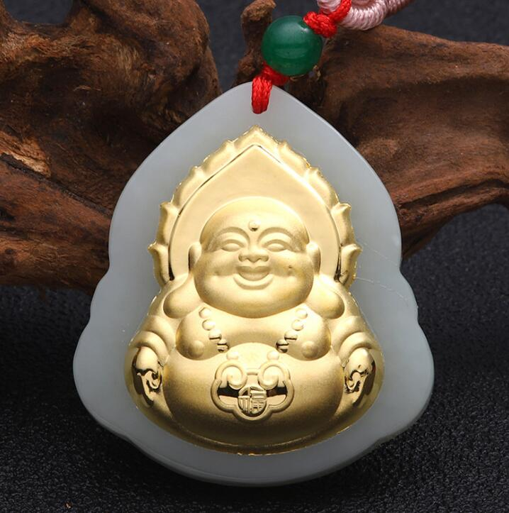 Buddha Jade Pendant Unisex 2018 New Top Quality Fo Jade For Men Women Pendants Jewelry Fine Necklaces Good Luck Gift new design pig jade necklaces top quality unisex pendants for male female
