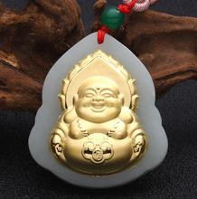 Buddha Jade Pendant Unisex 2018 New Top Quality Fo Jade For Men Women Pendants Jewelry Fine Necklaces Good Luck Gift цена 2017