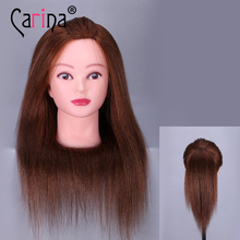 18 Manikin Salon Mannequin Head 100% Real Hair Mannequins For Sale Training Hairdressing Doll With Long 2019 New